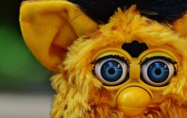 Furby with black hair