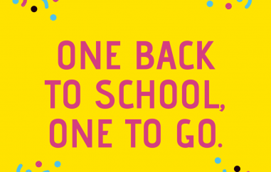 One back to school, one to go.